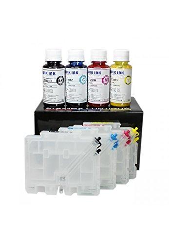 Cartouches rechargeables Ricoh GC41 + 400 ml d'encre par sublimation pour imprimantes Aficio SG 2100N / SG 3110DN / SG 3110DNW / SG 2110N / SG 7100DN