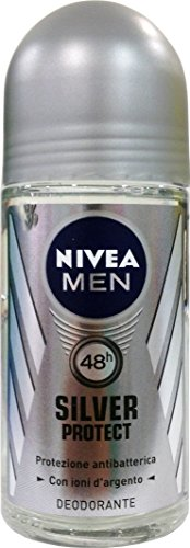 12x NIVEA For Men Herren deo roll on Silver Protect 50ml