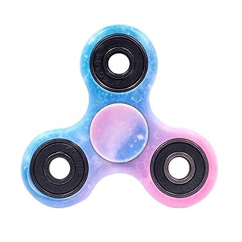 BTAMZ Fidget Hand Spinner Enfant ou Adulte Roulement Haute Vitesse Tourne 1 Minute Jeu Sensoriel Tri-Spinner Fidget Toy (28)