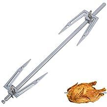 owikar rejilla para asar pollo Barbacoa de acero inoxidable tenedores rotación tenedores pollo asador accesorio de