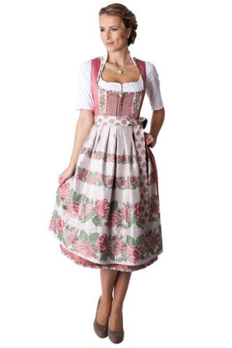 Melega Fashion GmbH Ludwig und Therese Damen Trachten Dirndl Melanie midi rose 11234 42