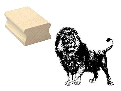 Stempel Holzstempel Motivstempel « LÖWE 02 » Scrapbooking - Embossing Basteln Wildtier Zoo Tierpark Safari