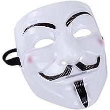 V Vendetta masque en plastique blanc Halloween masque