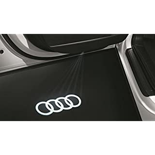 Original Audi LED Einstiegsleuchten Audi Ringe Schriftzug Logo Türbeleuchtung 4G0052133G