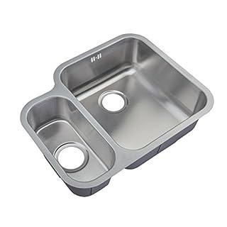 Kitchen Sinks Under Counter Mount 1.5 Bowl Satin Finish (D12R)