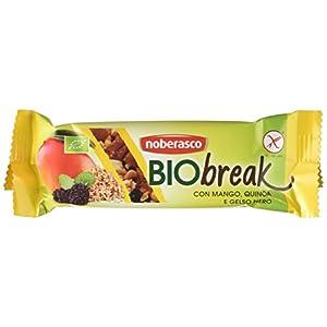 Noberasco 03676 Bio Break con Mango Quinoa e Gelso Nero- Confezione Scorta da 24 X 35 G-Barrette di Frutta Essiccata… 2 spesavip
