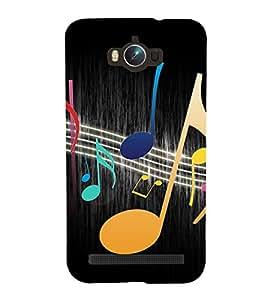 Music Beats 3D Hard Polycarbonate Designer Back Case Cover for Asus Zenfone Max ZC550KL :: Asus Zenfone Max ZC550KL 2016 :: Asus Zenfone Max ZC550KL 6A076IN