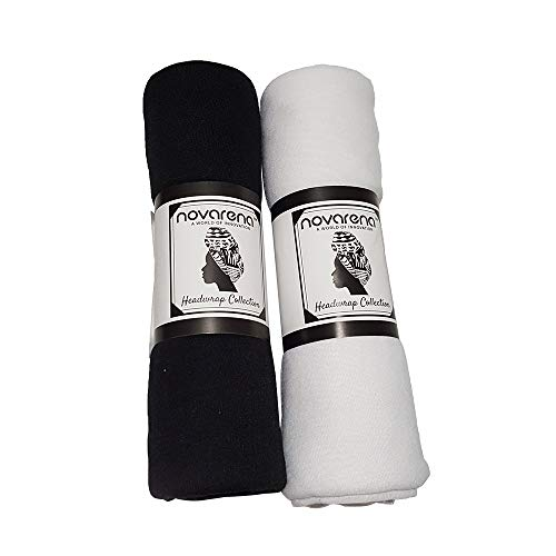 NOVARENA Haarband/Turban-Turban-Krawatte, Jersey, Strick, 30 Farben (1-4 Stück) - - Groß