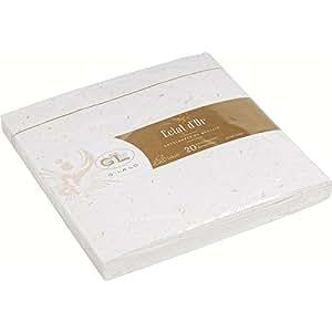 Georges Lalo Enveloppes doublées Eclats d'or gommées 165 x 165 mm Pack de 20 Blanc