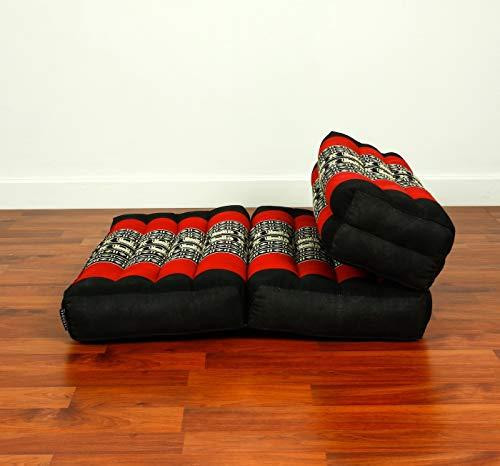 Leewadee Asiento De Meditación Plegable Cojín De Asiento De Yoga Set De Meditación Universal para Ahorrar Espacio Orgánico Naturalmente Ecológico, Capok