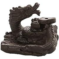 Decoración para el hogar Dragon Backflow Reflujo Quemador de Incienso Ceramic Stick Holders Cono Incensario Teahouse