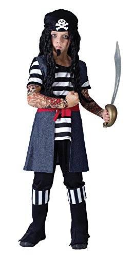 Bristol Novelty Tattoo Pirate Boy Kostüm (Pirate Boy Kostüm)