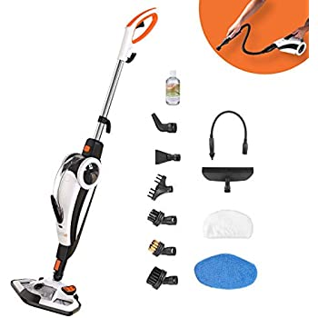 4ba9b1f2f99 Steam Cleaner, TACKLIFE 1400W 2-Mode Steam Mop, 12 Pieces Set  Corded-Electric 7 in 1 Mop Cleaner for Mopping & Handheld, Multifuction for  Floor Mop, ...