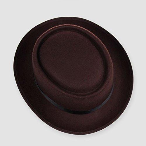 Zhhlaixing Fashion Unisex Adult Retro Wool Felt Cap Gentleman Fedora chapeau 1286 Café