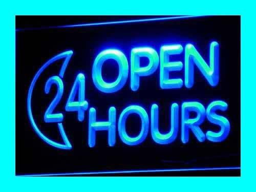 ADV PRO i131-b OPEN 24 HOURS Shop Displays Adv Neon Light Signs Barlicht Neonlicht Lichtwerbung