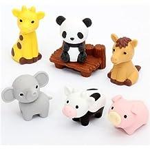 Neuheit japanische Tier Puzzle Radiergummi Set/ /Igel/ /Iwako/ /Set von 6 1/von jeder Farbe
