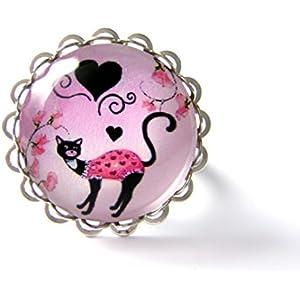 Ring mit Cabochon ° Katze °
