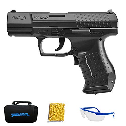 Walther P99 DAO M24 - Pistola de Airsoft Calibre 6mm (Arma Aire Suave de Bolas de plástico o PVC). Sistema: eléctrico