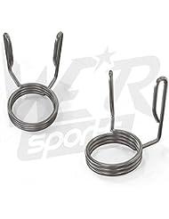 2x Olympic Steel Spring Collars 2& Quot; 50mm Handlebar Handlebar Gym Weight Bar Clip