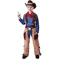 Bristol Novelty – Disfraz de vaquero Wild West (L) para niños edad 7 – 0c3e1ab066c