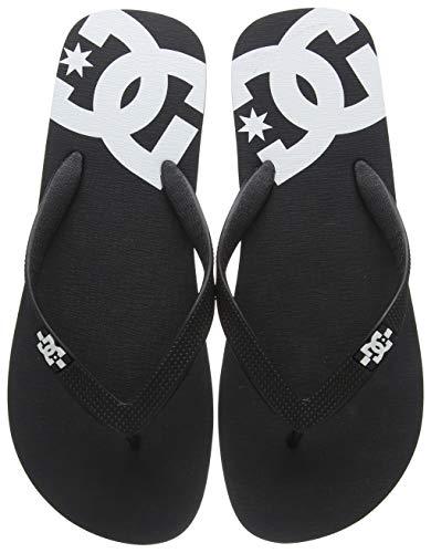 DC Shoes Herren Spray Zehentrenner, Schwarz Black/White Blw, 47 EU (Dc Tragen)
