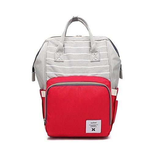 SODIAL rouge, Sac multifonctionnel de soins infirmiers de grande capacite Sac a dos de voyage des enfants, sac de couche-culotte de bebe