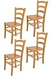 Tommychairs sillas de Design - Set 4 sillas Modelo Venice para Cocina, Comedor, Bar y Restaurante, con Estructura en Madera...