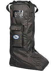 Harrys Horse Stiefeltasche | Reitstiefeltasche |Tragetasche für Reitstiefel schwarz | Reitstiefel Tasche | Reitstiefel Schutz | Stiefelbeutel |Tasche für Reitstiefel | Reitertasche