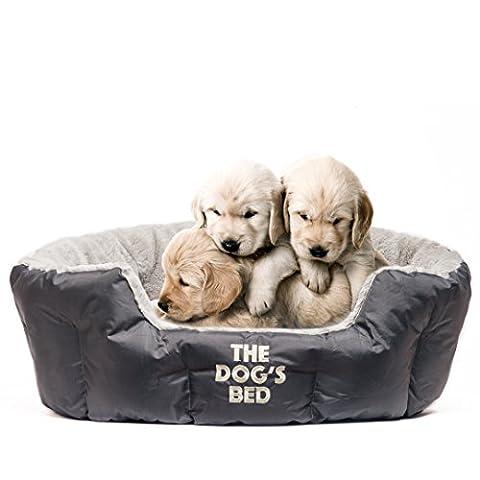 DAS HUNDEBETT, Premium Plüsch Hundebetten, braun – Top Qualität Kunstfell & Kunstwildleder, komplett waschbar mit abnehmbarem Kissen, hypoallergen, hohe Qualität & extrem weich & bequem – der ultimative Haustier - Luxus
