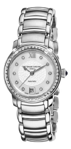 Frederique Constant Women's Steel Bracelet & Case Automatic MOP Dial Analog Watch FC-303WHD2PD6B