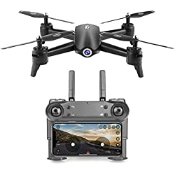 Hunpta@ DE25 Faltbare Drohne mit Kamera HD 1080P, Quadrocopter, Helikopter Ferngesteuert mit GPS Navigation, Tap Fly, Active Track, Gestensteuerung, Quick Shot, Live Video