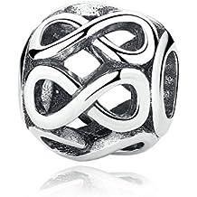 Infinite Shine 925pulsera de plata de ley compatible con Pandora