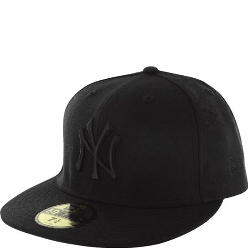 New Era New York Yankees 59fifty Cap Black On Black - 7 3/4 - 62cm