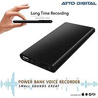 Grabadora activada por voz - 14 días de registro continuo   5000mAh - Función de cargador de teléfono con banco de energía - Capacidad de 8 GB   poweREC aTTo Digital