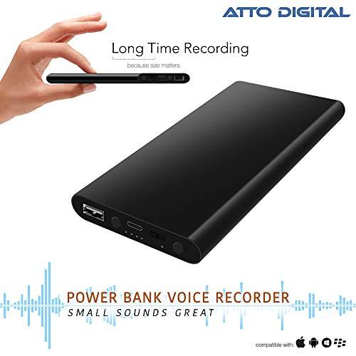 Profesionelles Aufnahmegerät - Stimmenaktivierung - 18 Tage Betriebszeit - 11 mm dünn - Energienbank-Telefon-Aufladeeinheits-Funktion