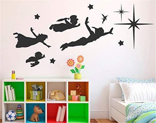 Wandaufkleber Berühmter Karikatur Peter Pan, Baby Für Kinderzimmer