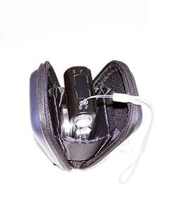 Etui housse rigide antichoc,double protection avec emplacement pour carte mémoire pour PANASONIC LUMIX DMC-TZ61 TZ57 TZ55 TZ40 TZ35 TZ30 SZ3 SZ5,CANON SX280 SX610 SX600,IXUS,Sony HX50,HX20,Samsung SB30 WB150,Nikon L29,L30,Fujifilm FinePix (de couleur bleu)