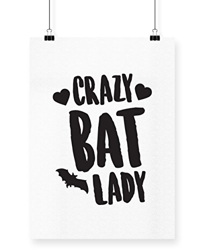 Crazy Lady Cat Kostüme (hippowarehouse Crazy Bat Lady Poster Druck Wall Art Design A4)