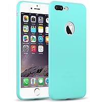 iPhone 8 Plus, iPhone 7 Plus Silikonhülle | JAMMYLIZARD Ultra Slim Skin Case Hülle 0.8mm [Jelly Cover] Schutzhülle aus mattem TPU-Silikon, Türkis