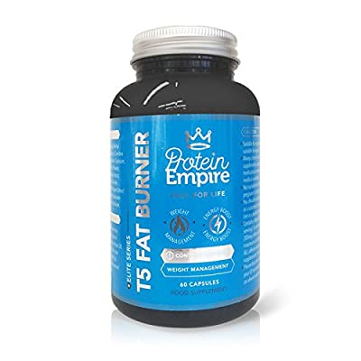 PROTEIN EMPIRE ELITE SERIES T5 FAT BURNER 60 CAPSULES - Effective Safe & Natural Fat Burners for Women and Men, Best Fat Burners, Weight Loss - FULL Money Back Guarantee - Manufactured In The UK from Protein Empire