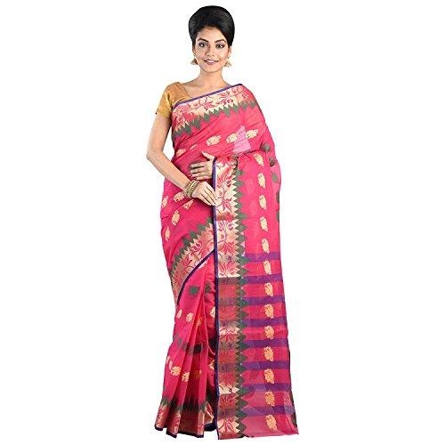 Raj Sarees Women's Traditional Bengali Speciality Stylish Handloom/Tant Saree | Pure Cotton...