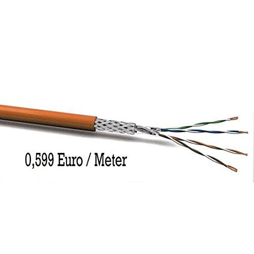 Preisvergleich Produktbild Cat7 Kabel 100m SIMPLEX Netzwerkkabel Installationskabel Verlegekabel Cat.7 Datenkabel 1000MHz orange