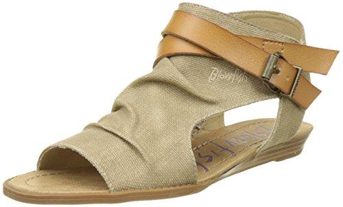 Blowfish Damen Balla Geschlossene Sandalen, Beige (Desert Sand), 37 EU Cut-out Wedge Sandals