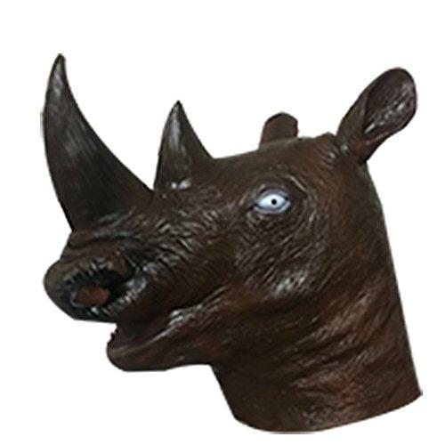 (Haoxiaren Masken Für Erwachsene Latex Tier Maske Kopfbedeckung Dance Bar Lustige Maske Halloween Kostüm Party Latex, E)