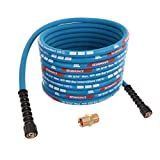 20m DN8 400bar Double fil d'acier Pour Kärcher HD HDS M22 x M22 Bleu Tuyau Flexible Haute Pression Nettoyeur Extension