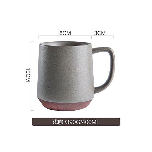 Btftkjbf Vent Industrielle Japonaise Poterie Grossière Mat Tasse Mug Home Office Coffee Cup Tasse Café Léger,