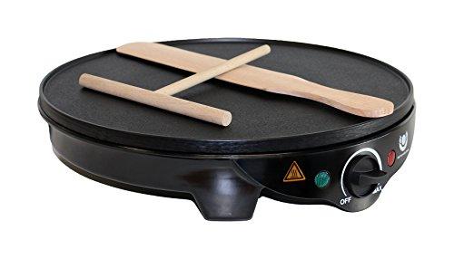Crepesmaker Pfannenkuchen 1300 W Durchmesser 30 cm mit Zubehör und Antihaft-Beschichtung