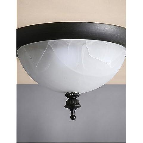 Black Metal clásico moderno Lámparas de techo Lámparas de techo Iluminación con vidrios soplados, Salón Dormitorio Comedor Bar Cafetería Pasillo balcón , 220-240 V