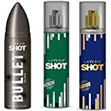 LAYERR SHOT PASSION FRAGRANT BODY SPRAY + LAYERR SHOT DYNAMIC FRAGRANT BODY SPRAY + LAYERR SHOT BULLET BURST BODY...