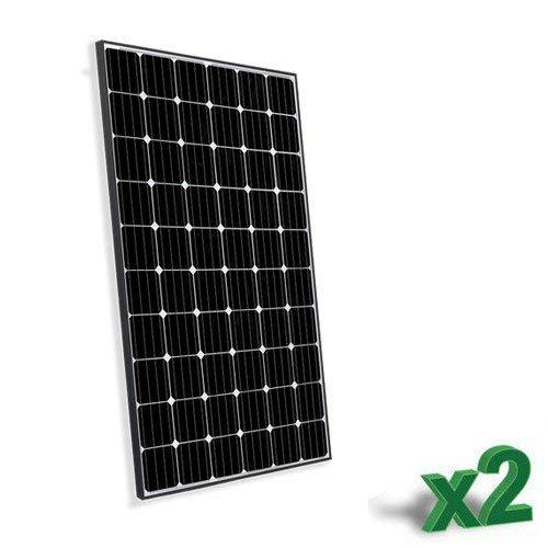 Conjunto de 2 Placa Solar Fotovoltaico300W Total 600W Monocristalino Placa Solar Fotovoltaico 300Wen silicio monocristalino, ideal para la construcción de sistemas fotovoltaicos se conecta con las redes (Sistemas Fotovoltaicos ON-GRID) y dos fotovo...